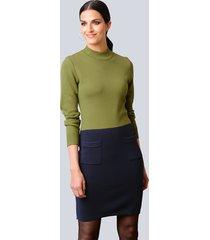 jurk alba moda groen::marine