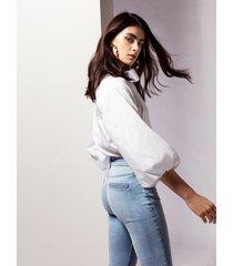motivi camicia con maniche over donna bianco