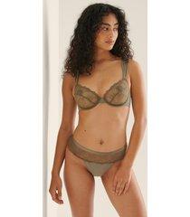 na-kd lingerie braziliantrosa i mesh - green