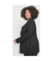casaco trench coat facinelli by mooncity liso preto