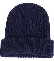 cappello termico elastico lavorato a maglia in lana con berretto a righe da uomo