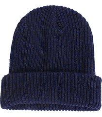 uomo donna casual stripe slouch beanie cap lana cotone elastico cappello termico