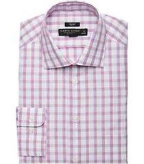 pronto uomo berry check slim fit dress shirt