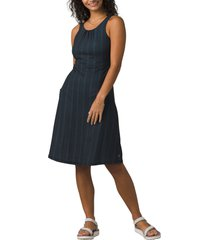 women's prana skypath a-line dress, size x-large - blue