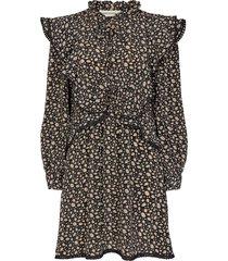 jurk met bloemenprint khloe  zwart
