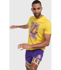 camiseta amarillo-morado nba los angeles lakers