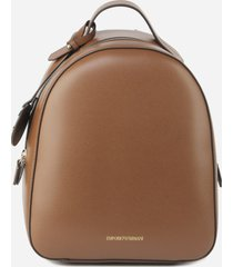 emporio armani backpack with charm detail and screen-printed logo