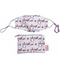 lil miss gwen face mask, pouch set