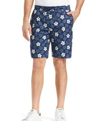 tallia men's slim fit floral print shorts and a free face mask