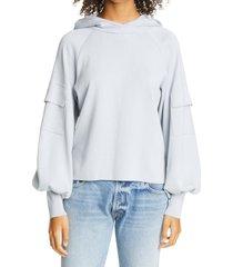 women's adeam balloon sleeve hoodie, size medium - grey