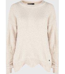sweater nrg chenille crema - calce oversize