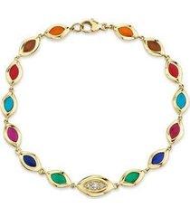 7 color enamel cat's eye bracelet
