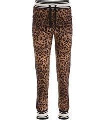 dolce & gabbana leopard-printed joggers