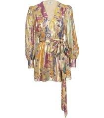 etro short silk and lurex dress