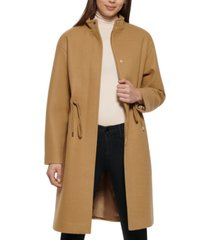 kenneth cole single-breasted anorak coat