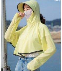 sombrero de sol de verano anti-ultravioleta para mujer amarillo