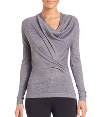 cicileydraped cowlneck sweater