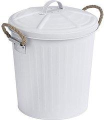 kosz na śmieci metalowy 6 litrów biały