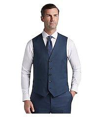 traveler collection slim fit sharkskin men's suit separates vest by jos. a. bank