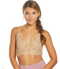 free people women's adella bralette - nude - large cotton