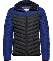 chevron colour block down gevoerd jack blauw superdry