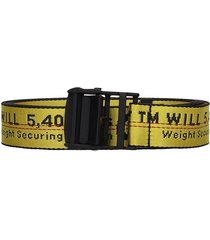 off-white industrial belt belts in yellow tech/synthetic