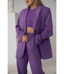 angelica blick x na-kd oversize blazer - purple