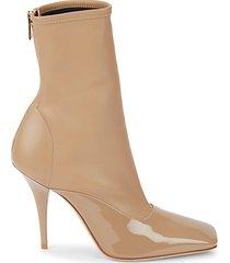 misbrooke leather high-heel sock bootie