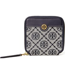 tory burch t monogram jacquard bifold wallet in tory navy at nordstrom