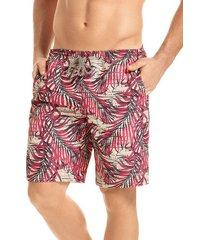 pantaloneta verano silueta larga hawai para hombre-coral