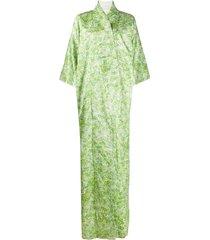 a.n.g.e.l.o. vintage cult 1970s floral jacquard kimono - green