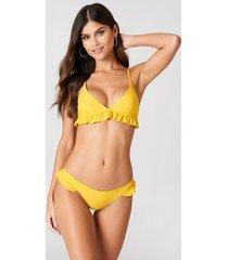 j&k swim x na-kd frill bikini briefs - yellow