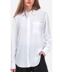 blusa regular relaxed blanco calvin klein