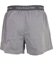 calvin klein boxers wijd 2-pak grijs