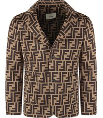 fendi light brown jacket with double ff for boy