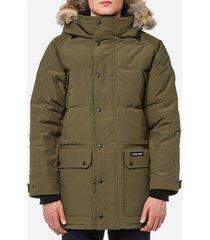 canada goose men's emory parka jacket - military green - s - green