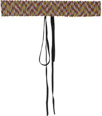missoni embroidered tied belt - black