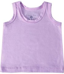 camiseta regata lilã¡s 3 a 6 meses grã£o de gente roxo - roxo - menina - dafiti