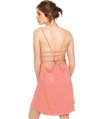 vestido coral bonna rosella