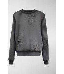 amiri washed shotgun sweater