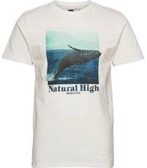 t-shirt stockholm whale high t-shirts short-sleeved vit dedicated