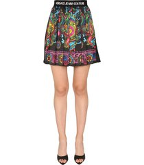 versace jeans couture mini skirt with royal print