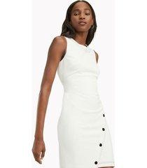 tommy hilfiger women's sleeveless essential snap dress cream - 8