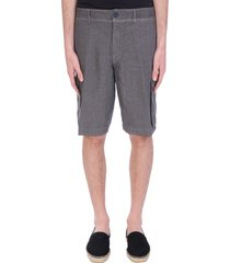 120% lino shorts in grey linen