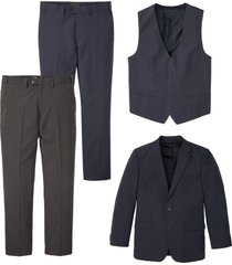 completo (4 pezzi) giacca, gilet, 2 pantaloni (blu) - bpc selection