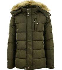 galaxy by harvic men's heavyweight bomber parka zip jacket with detachable hood