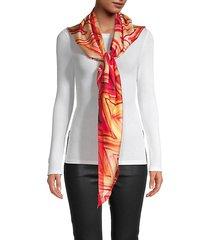chevron silk triangle scarf