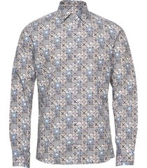 8608 - iver skjorta casual multi/mönstrad sand