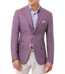 tallia orange men's slim-fit lavender linen sport coat
