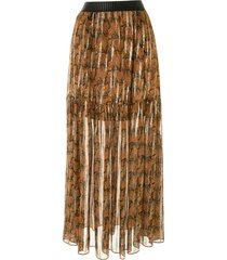 manning cartell gypsy ballads tiered skirt - multicolour